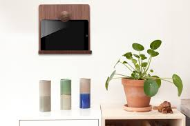How To Mount Ipad To Wall Wooden Ipad Wall Mount Nordic Appeal