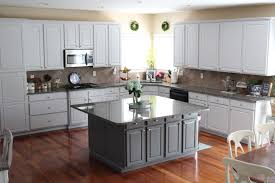 Light Gray Cabinets Kitchen by Our Kitchen Before And After Love Your Abode
