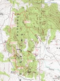 Topographical Map Of New Mexico by Topographic Map Of The Circle Creek Loop City Of Rocks National