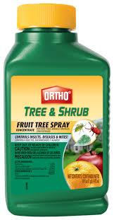 ortho tree and shrub fruit tree spray tree and shrub insect