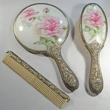 vintage comb vintage vanity set includes mirror brush and comb