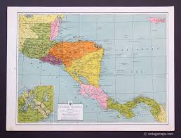 Central America And Caribbean Map by Central America And Caribbean Vintage Maps