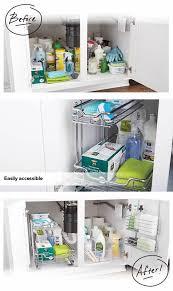 kitchen sink cabinet caddy chrome 2 tier sliding organizer kitchen sink