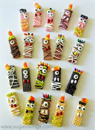 sugar swings serve some sugar wafer monster halloween treats