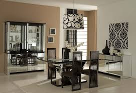elegant black metal modern dining room chairs rectangle glass