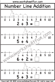 addition u2013 number line free printable worksheets u2013 worksheetfun