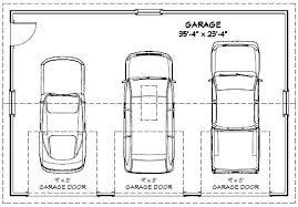 4 car garage size 3 car garage width 3 car garage dimensions width for 3 car garage