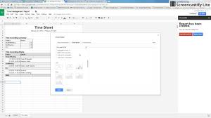 Time Tracker Spreadsheet Google Calendar Time Tracker With Time Sheet Youtube