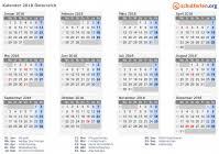 Kalender 2018 Für österreich Kalender 2018 österreich Mit Feiertagen