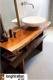 mobile bagno grezzo mobile in legno massello su misura jpg