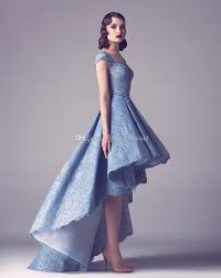 light blue lace high low prom dresses 2017 sweetheart neckline