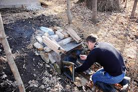 Building Outdoor Fireplace With Cinder Blocks by Diy Outdoor Fireplace Smoker Wpyninfo