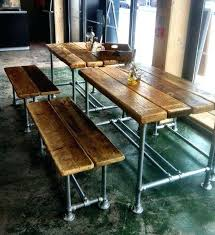 bench dining tables interesting table with back enchan1 regard to