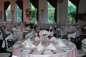beautiful spring pink wedding set up at the great room at historic