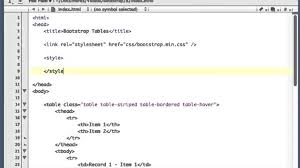Bootstrap Table Class Twitter Bootstrap 2 3 2 Tutorial 7 Table Styles Youtube