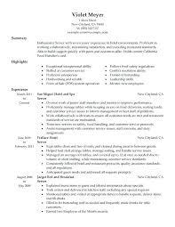 restaurant lead server resume sample waitress cover letter