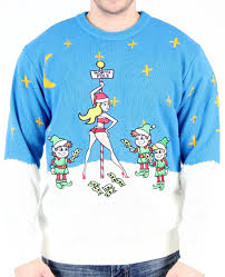 stripper pole ugly christmas sweater