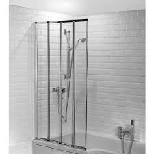 folding bath screens splashdirect 4 panel folding shower screen