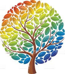 rainbow tree stock vector 488384600 istock
