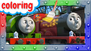 how to coloring thomas james and percy coloring page with