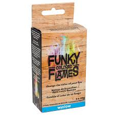 shop funky colored flames 3 pack fire log at lowes com