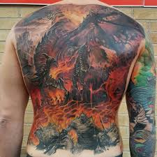 my deathwing tattoo hope everyone likes artist is chris smith
