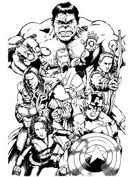 awesome avengers team coloring u0026 coloring pages