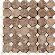 cione 2 x 2 andretti octagon mosaic marazzi tile