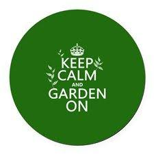 keep calm and garden on car magnet for want