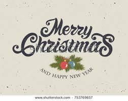 merry christmas vintage christmas greeting card stock vector