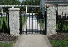 kansas city residential ornamental metal fencing guier fence