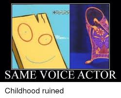 car same voice actor childhood ruined cars meme on me me