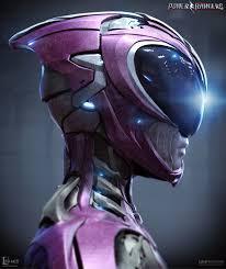 concept ranger artstation power rangers pink ranger helmet luca nemolato