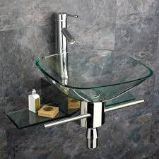 metal wall mount sink bathroom ideas glass wall mount small bathroom sinks in stone
