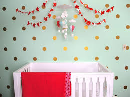 Baby Nursery Wall Decal by Colorful Polka Dot Wall Decals For Baby Nursery Decor Ideas U2014 Baby