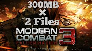 modern combat 3 apk free modern combat 3 highly compressed for free apk with data