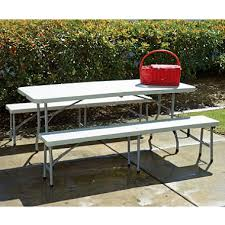 work smart combo one 6 u0027 folding table and bench white sam u0027s club