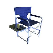 Directors Folding Chair Steel Directors Folding Chair Side Table With Cup Holder One Piece