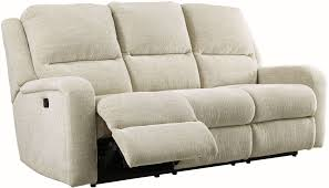 sand power reclining sofa with adjustable headrest