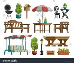 Types Of Chairs by Modern Garden Design Furniture Set Sunshade Stock Vector 664088245