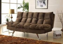 homelegance jazz chocolate plush microfiber click clack sofa bed