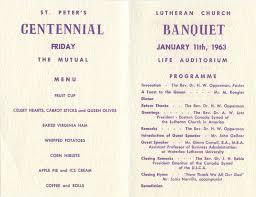 Church Programs Template St Peter U0027s Evangelical Lutheran Church Centennial Banquet Program