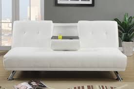 white leather futon sofa modern white leather futon sofa bed with cup holders and drink