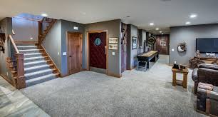 celebrity homes omaha for a craftsman basement with a wood trim