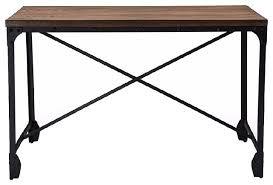 grayson vintage industrial antique bronze home office wood desk