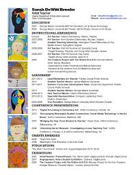 Resume Samples For Teaching by Art Teacher Resume Of Art Teacher Resume Examples Latest Resume