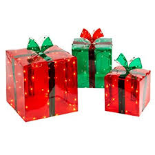 lighted gift boxes christmas decorations 3 lighted gift boxes christmas decoration yard decor