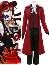 Black Butler Halloween Costumes Compare Prices Black Butler Grell Cosplay Shopping Buy