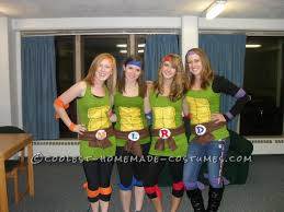 Halloween Costumes Ninja Turtles Fun Easy Teenage Mutant Ninja Turtles Girls Group Halloween