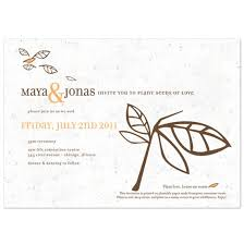 wedding invitations canada beginnings plantable wedding invitations 0 99 the wedding